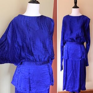 Vintage silk Jerry Regenbogen evening dress